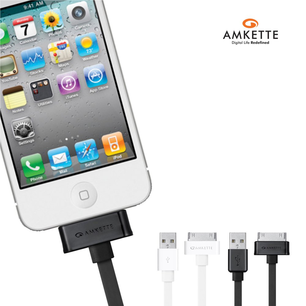 30 Pin iPhone/iPad Flat USB Cable