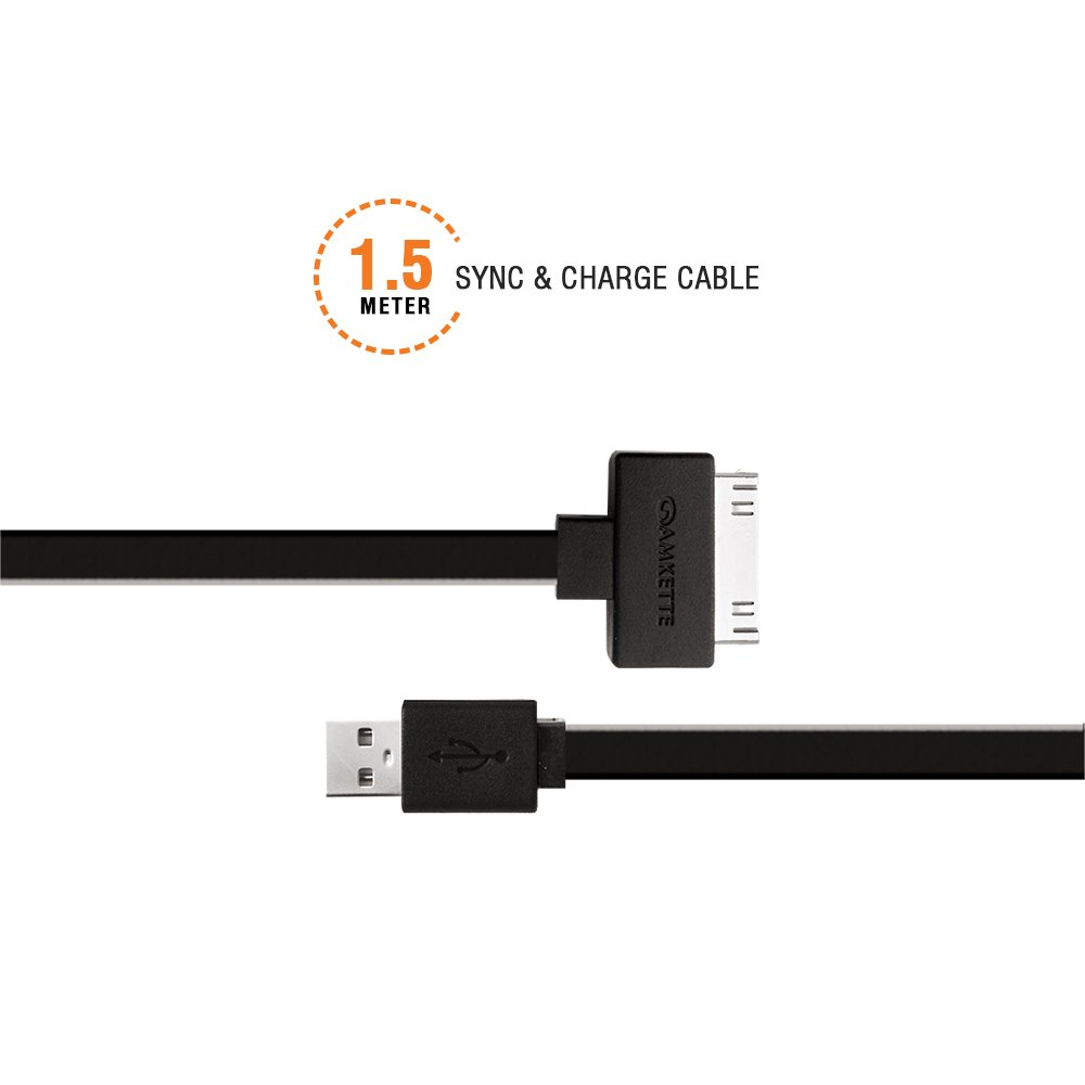 30 Pin iPhone/iPad Flat USB Cable (1.5m)
