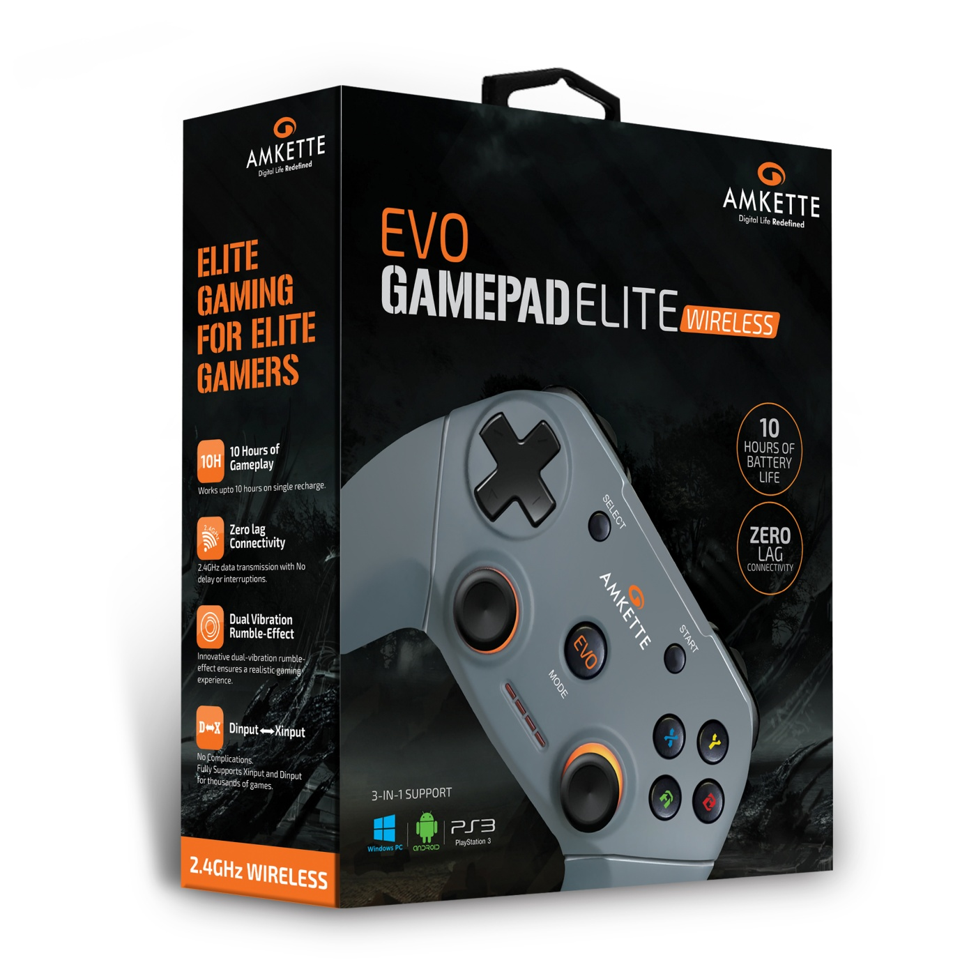 EVO Elite Wireless | Wireless PC Gamepad | Amkette com