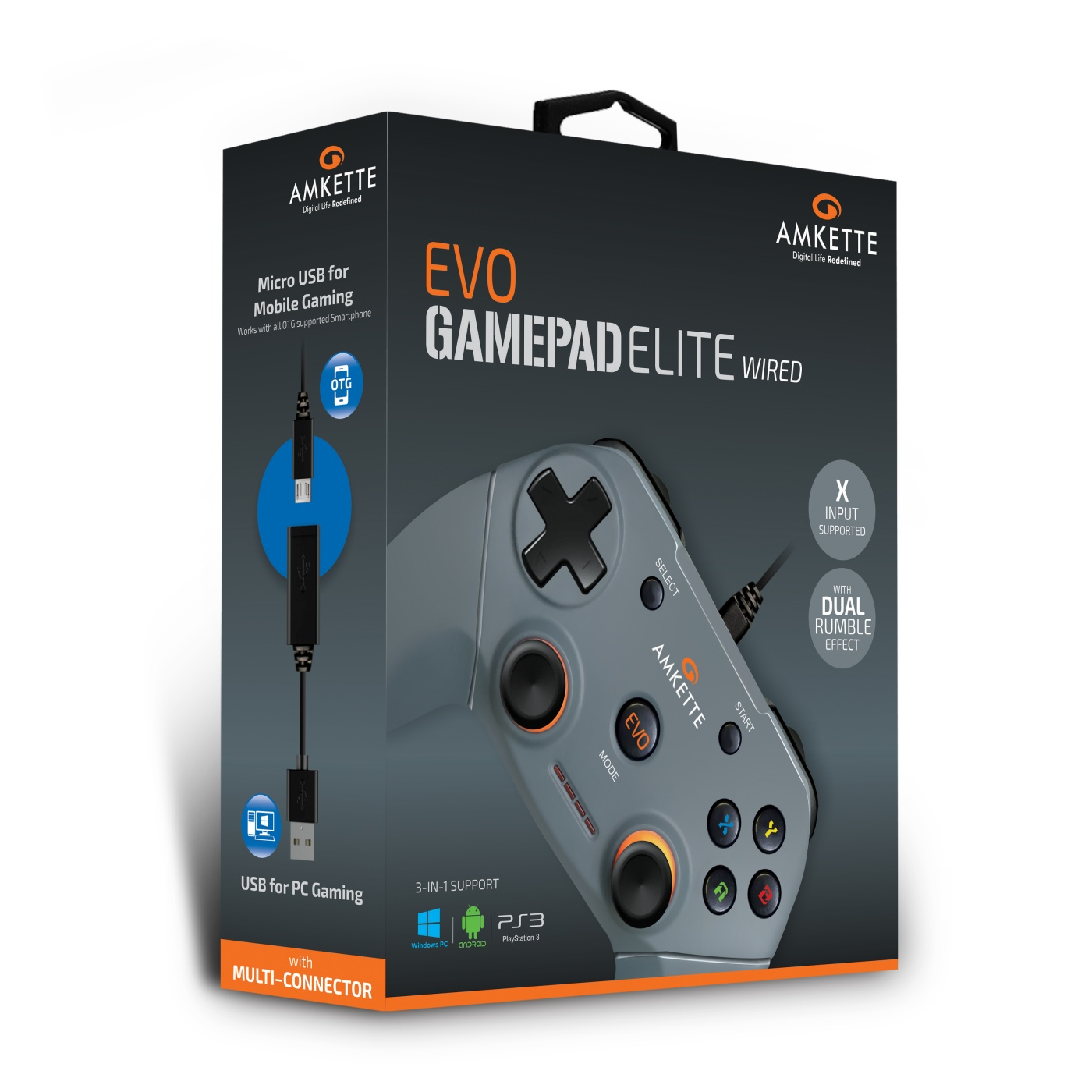 EVO Elite Wired | Wired PC Gamepad | Amkette com