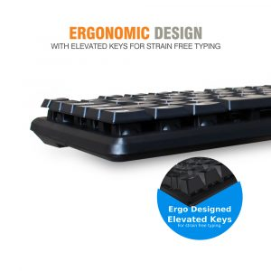 f6fde214117 Amkette Lexus Multimedia Wired Keyboard and Mouse Combo (Black)