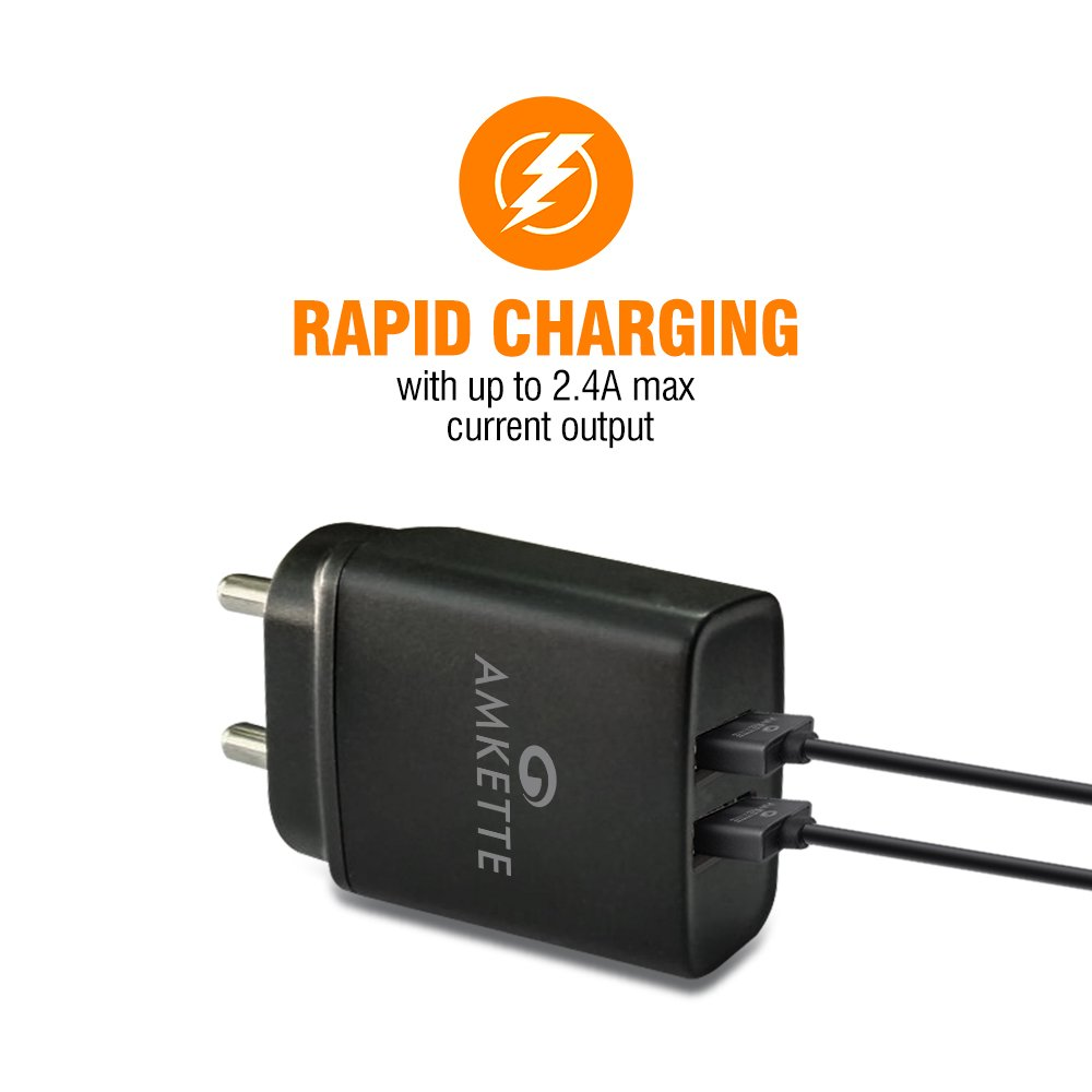 Rapid 2 Port 2.4A USB Wall Charger