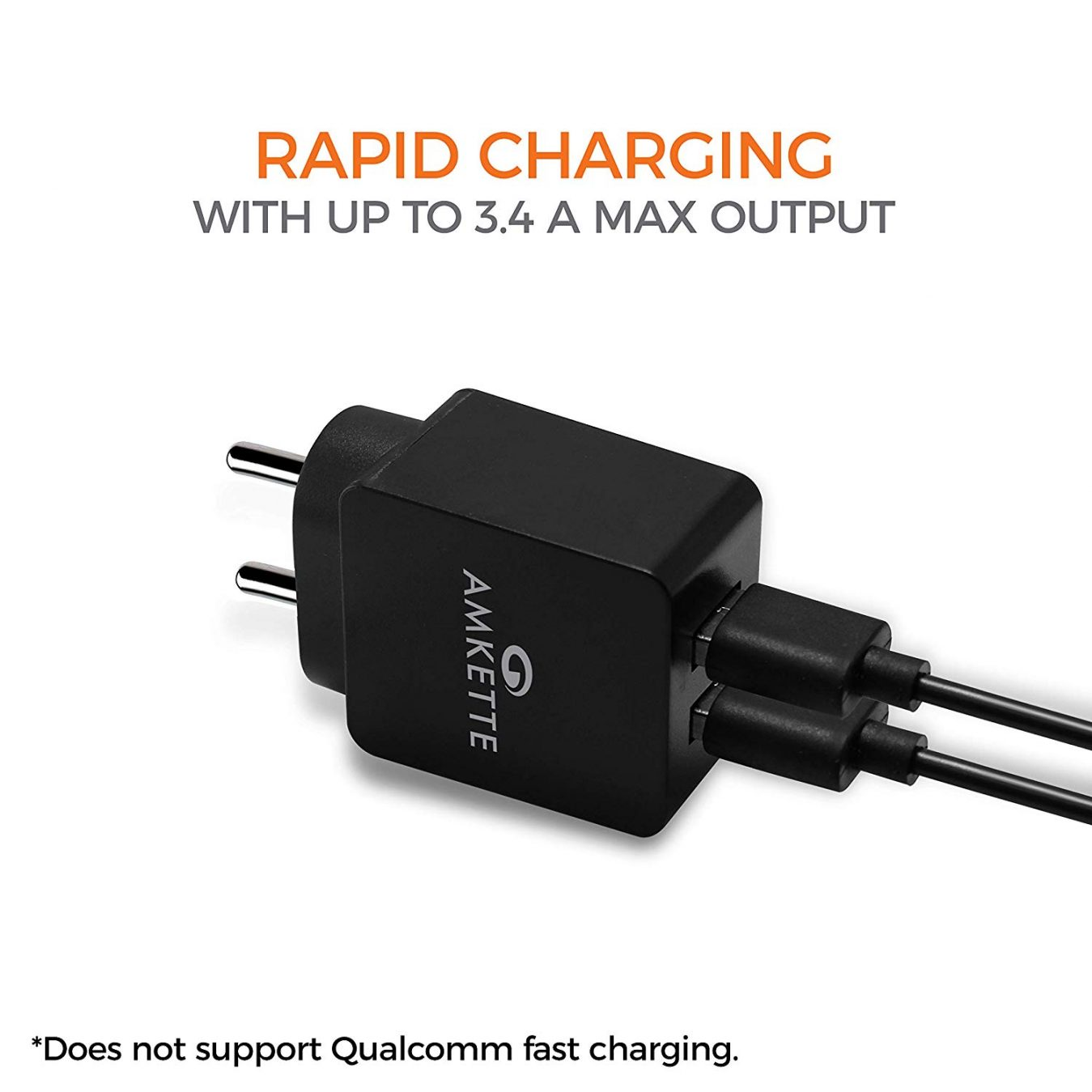 Rapid 2 Port 3.4A USB Wall Charge