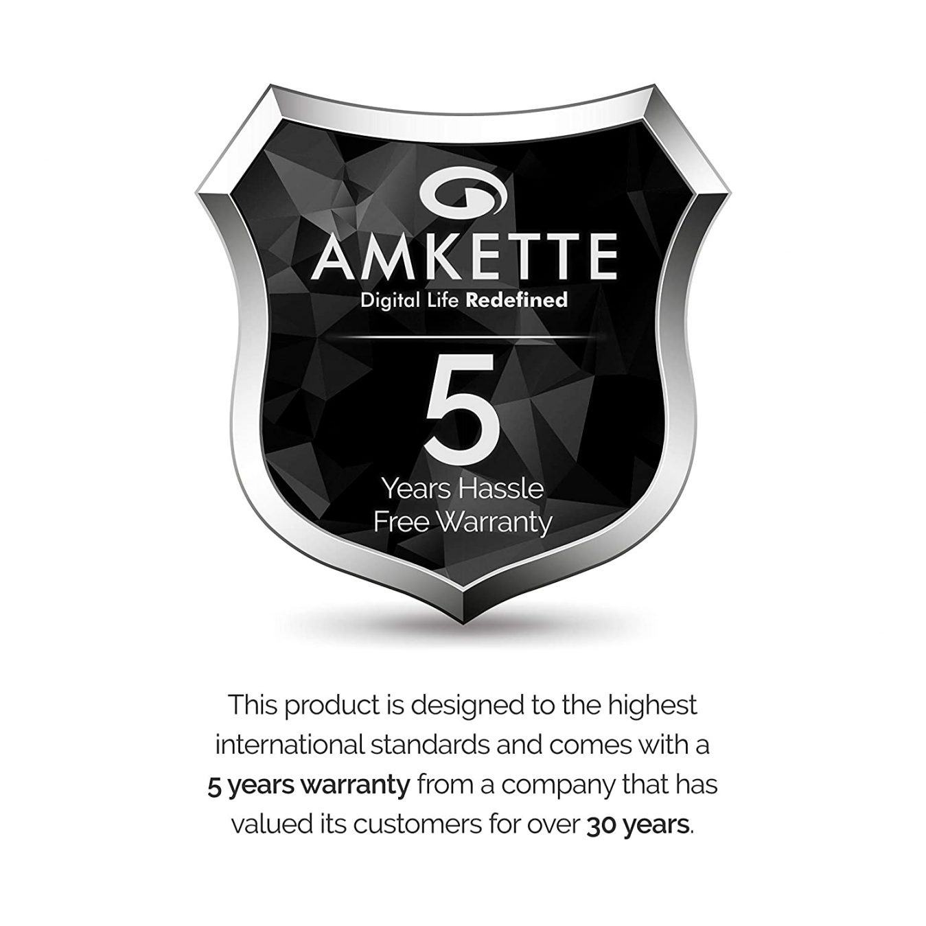 Warranty card of HDMI cable by amkette