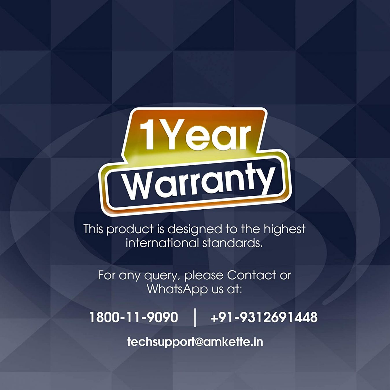 1 year warranty card by amkette