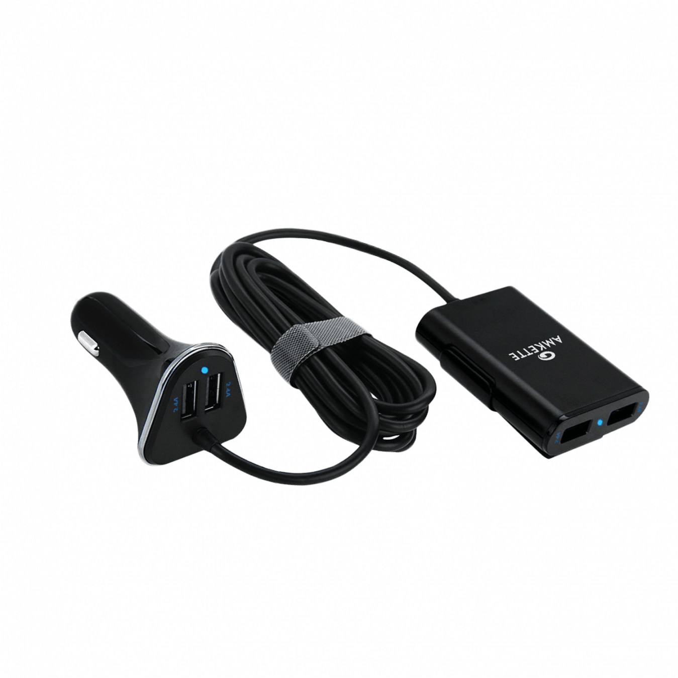 Rapid 4 Port 9.6A Family Car Charger