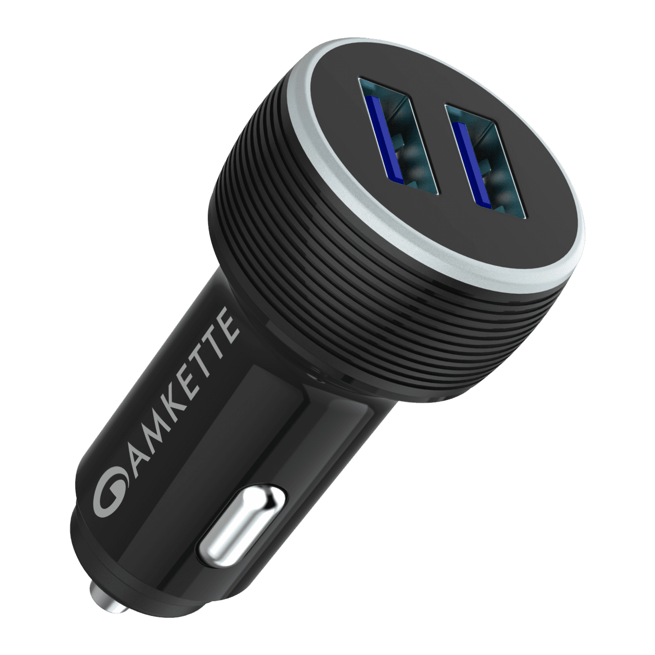 PowerPro Dual Port QC Car Charger (Without Cable) by Amkette