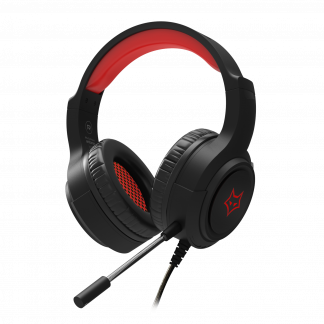 Evofox Antares LED Gaming Headphones in Black and red color